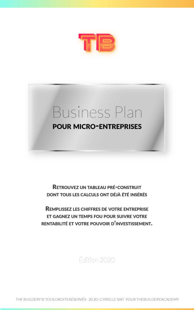 Tableau préparé avec tous les calculs nécessaires à l'élaboration d'un Business Plan prévisionnel officiel d'une micro-entreprise. Disponible à 2€
