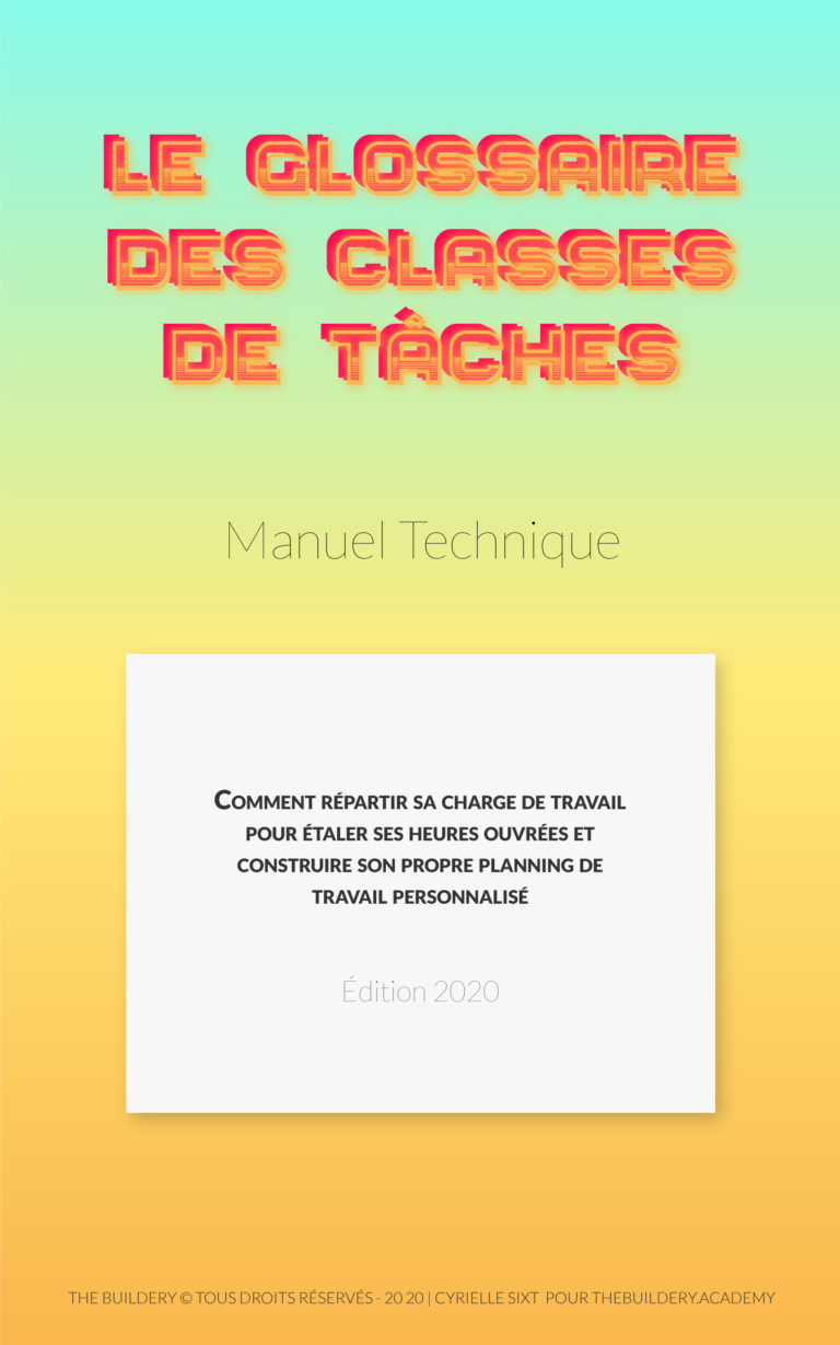 Le manuel pédagogique qui rassemble tout les types de tâches pour planifier au mieux ses journées. Disponible à 5€.